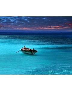 Båt På Turkost Vatten