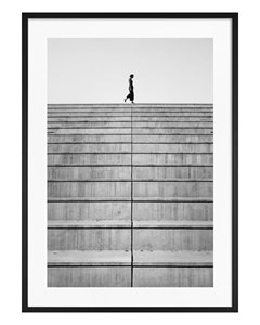 Poster Black & White Staircase