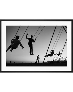 Poster Black & White Swing