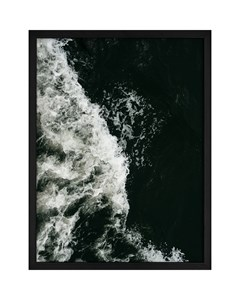 Poster Black & White Ocean Wave