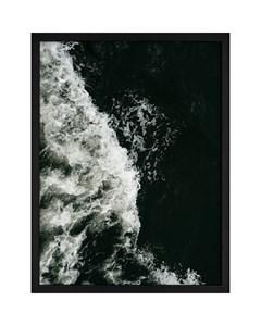 Poster Black & White Ocean Wave