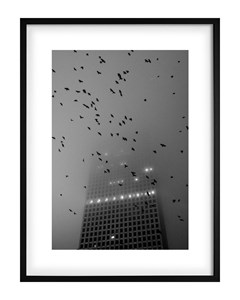 Poster Black & White Skyscraper
