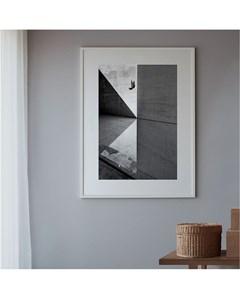 Poster Zwart-wit Minimale Vogel