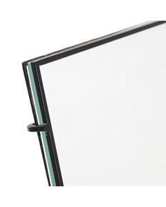 Bari 80 Black Square Rod Photo Frame