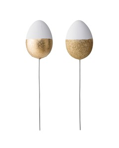Deco Egg, White, Plastic White