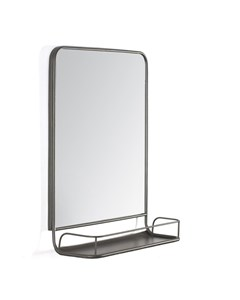 Moselle Modern Shelf - Wall Mirror - Grey