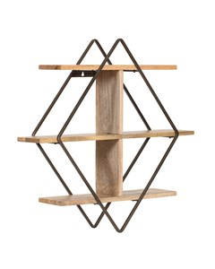 Tignes - Iron & Wood - Floating Decorative Wall Shelf - Bronze