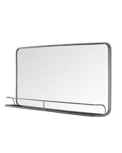 Manom Contemporary Shelf - Wall Mirror - Grey
