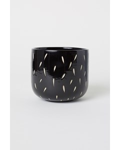 Rainy Small Plant Pot Black