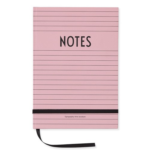 Design Letters Notes Book  Pink