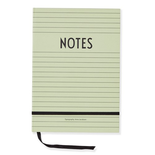 Design Letters Notes Book  Green