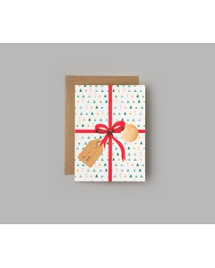 Merry Christmas - Double Cards With Envelope 6-pac White