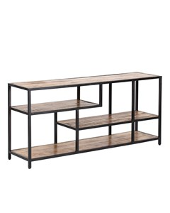 Hunter - Iron & Mango Wood - Storage Shelf - Black & Natural Wood