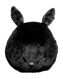 Soft Toy Cushion Black