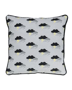 Cushion, Grey W/black L40xw40 Cm