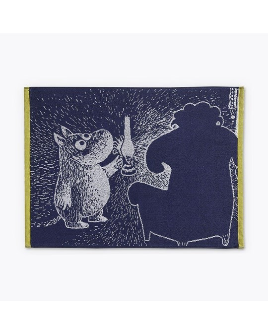 Finlayson Hand Towel Moomin And The Ancestor D.blue 50x70