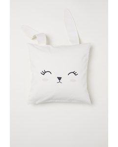 Animal Cushion Cover 40x40 White