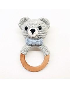 Grey Bear Rattle-blue