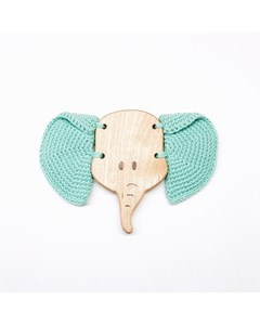 Flying Elephant Teething Toy Green