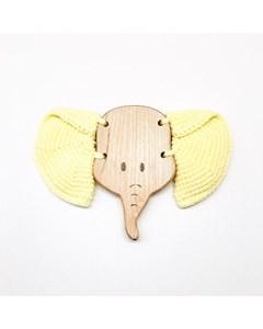 Flying Elephant Teething Toy Yellow