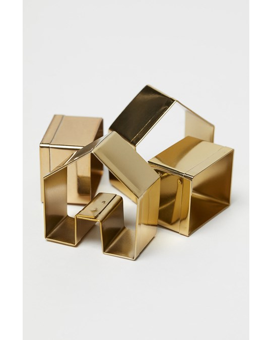 H&M HOME Holiday Building Cookie Cutter Gold
