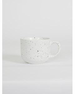 464474001-187 Dotty Stoneware Mug White White