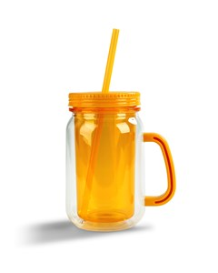 Drinking Jar To Go Orange