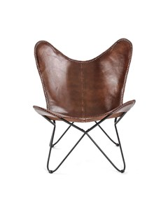 Montreux Iron Butterfly Chair W/leather Seat