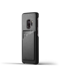 Full Leather Wallet Case For Galaxy S9 - Black