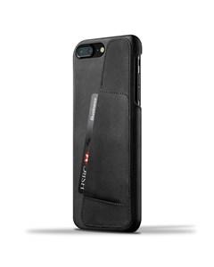 Leather Wallet Case For Iphone 8 Plus / 7 Plus - Black