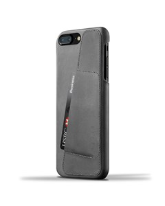 Leather Wallet Case For Iphone 8 Plus / 7 Plus - Gray