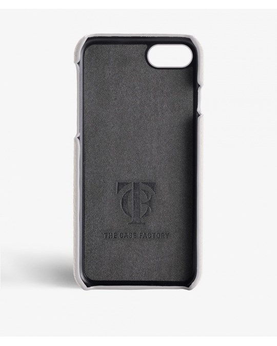 The Case Factory iPhone 7/8 Calf Drummed Ivory