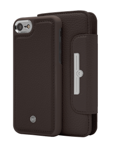 N303 Magnetic Case & Wallet Walnut Dark Brown  - Iphone 6/6s/7/8  Walnut Dark Brown