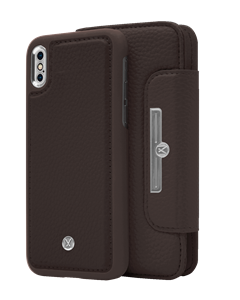 N303 Magnetic Case & Wallet Walnut Dark Brown  - Iphone X/xs  Walnut Dark Brown