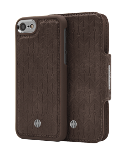 N305 Signature Magnetic Case & Wallet Walnut Dark Brown  - Iphone 6/6s/7/8  Walnut Dark Brown