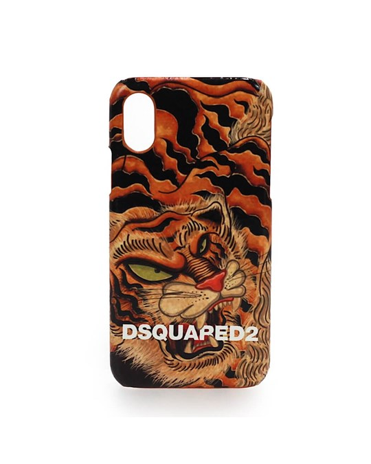 DSQUARED2 Dsquared2 Tiger Print Iphone X Cover
