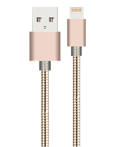 Gold Metal Charging Cable For Iphone