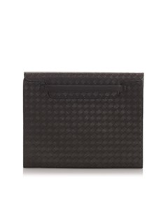 Bottega Veneta Intrecciato Calfskin Tablet Cover Brown