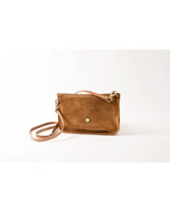 Lotta Small Shoulder Bag Cuoio / Cognac Suede/leather