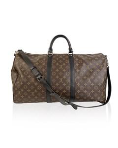 Louis Vuitton Monogram Macassar Keepall 55 Bandouliere Travel Bag