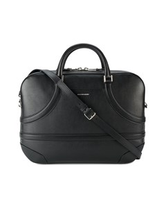 Alexander Mcqueen Leather Harness Briefcase Black
