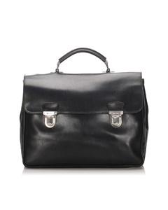 Prada Leather Business Bag Black
