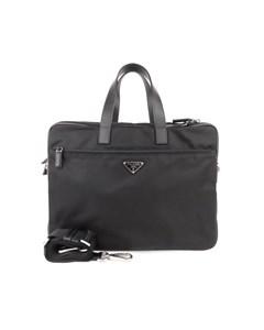 Prada Tessuto Business Bag Black