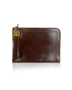 Hermes Paris Vintage Brown Leather Portfolio Document Holder