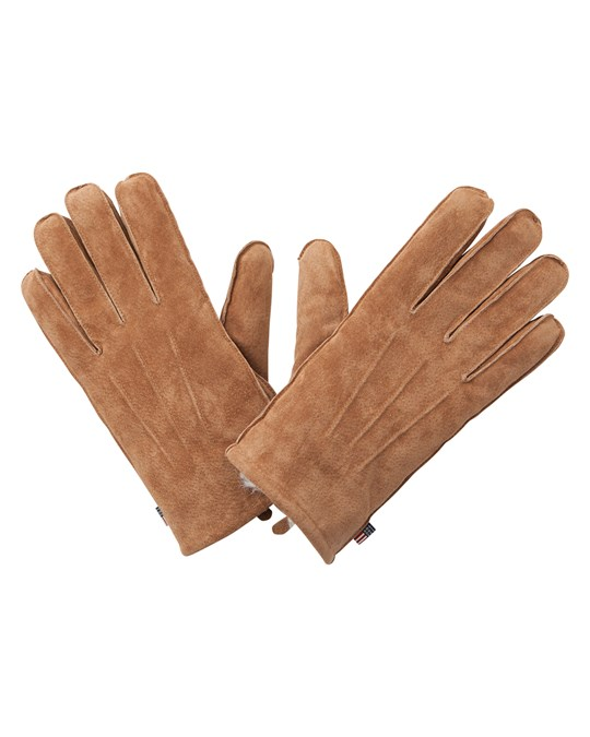 Lexington Maine Suede Gloves, Cognac