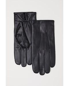 Sune Leather Glove Black