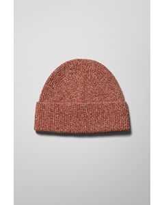 Map Knit Beanie Orange