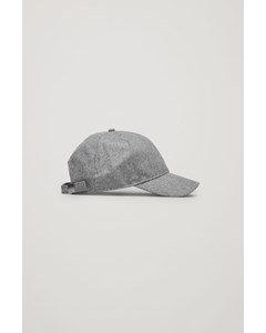 Wool Baseball Cap Light Grey Melange