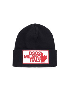 Dsquared2 Milano Patch Black Wool Beanie