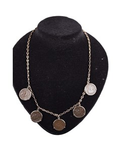 Ancient Lira Coin Charms Necklace